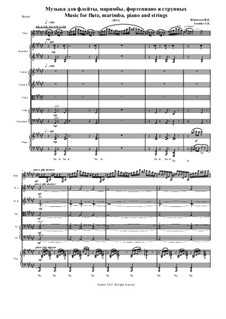 Music for flute, marimba, piano and strings: Music for flute, marimba, piano and strings by Igor Iventiev