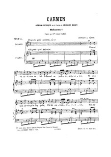 Habanera: For soprano (or tenor) and piano by Georges Bizet