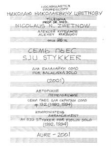 Seven Pieces for Balalaika Solo, Op.26-a: Seven Pieces for Balalaika Solo by Alexey Kurbanov
