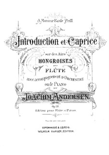 Introduction and Caprice , Op.58: Score, solo part by Joachim Andersen