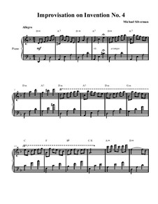 No.4 in D Minor, BWV 775: Improvisation by Johann Sebastian Bach