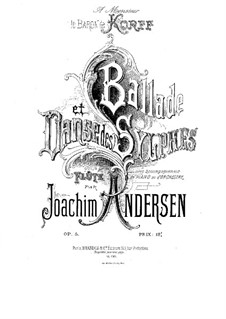 Ballad and Dance of the Sylphs, Op.5: Score, solo part by Joachim Andersen