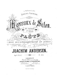 Two Pieces for Flute and Piano, Op.6: Two Pieces for Flute and Piano by Joachim Andersen