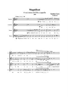 Magnificat. SATB a cappella, CS166 No.2: Magnificat. SATB a cappella by Santino Cara