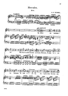 Hercules, HWV 60: My Father! Ah! Methinks I See, for voice and piano by Georg Friedrich Händel