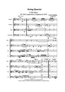 String quartet No.3 in E flat major, CS168 No.3: String quartet No.3 in E flat major by Santino Cara
