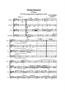 String quartet No.5 in A major, CS168 No.5: String quartet No.5 in A major by Santino Cara