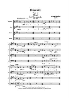 Benedicite (Psalm 66). SATB a cappella, CS174: Benedicite (Psalm 66). SATB a cappella by Santino Cara