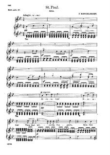 St. Paul, Op.36: Jerusalem! Jerusalem! Thou That Killest the Prophets, for soprano and piano by Felix Mendelssohn-Bartholdy