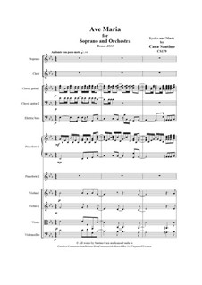 Ave Maria for soprano and orchestra, CS179: Ave Maria for soprano and orchestra by Santino Cara