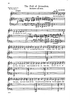 Тhе Fall of Jerusalem. Recitative and Aria 'Thine, O Saviour, Is Love Unending': Тhе Fall of Jerusalem. Recitative and Aria 'Thine, O Saviour, Is Love Unending' by Martin Blumner