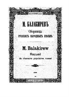Collection of Russian Folk Songs: Collection of Russian Folk Songs by Mily Balakirev