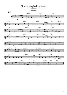 The Star Spangled Banner (National Anthem of The United States): Solo and chords by John Stafford Smith