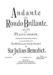 Andante and Rondo Brilliant: Andante and Rondo Brilliant by Julius Benedict
