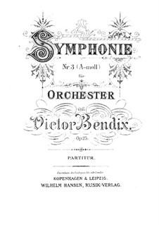 Symphony No.3 in A Minor, Op.25: Symphony No.3 in A Minor by Victor Bendix