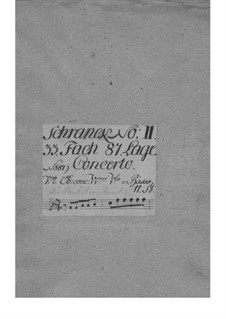 Concerto for Violin and Orchestra in F Major, TWV 54:F1: Parts by Georg Philipp Telemann