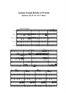 Woodwind Quintet in C Minor, Op.91 No.6: Movement I by Anton Reicha