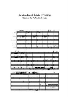 Woodwind Quintet in G Major, Op.99 No.6: Movement I by Anton Reicha
