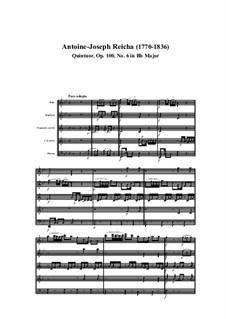 Woodwind Quintet in B Flat Major, Op.100 No.6: Movement I by Anton Reicha