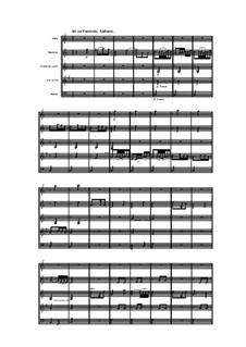 Woodwind Quintet in G Major, Op.99 No.6: Movement II by Anton Reicha