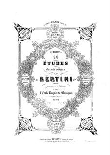 Twenty-Five Character Etudes, Op.66: Complete set by Henri Jérôme Bertini