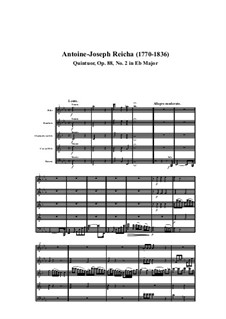 Woodwind Quintet in E Flat Major, Op.88 No.2: Movement I by Anton Reicha