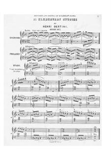 Twenty-Five Elementary Etudes, Op.137: Etudes No.1-16 by Henri Jérôme Bertini