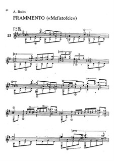 Mefistofele: Fragment, for guitar by Arrigo Boito