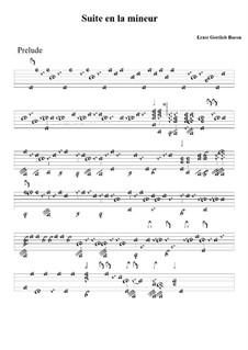 Suite in A Minor: Tablature by Ernst Gottlieb Baron