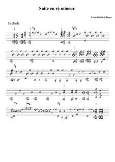 Suite in D Minor: Tablature by Ernst Gottlieb Baron