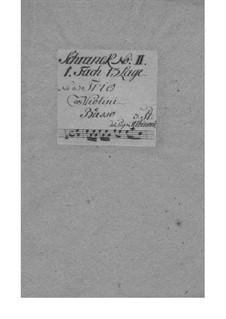 Dodici balletti a tre, Op.3: No.11 in A Minor – Parts by Tomaso Albinoni