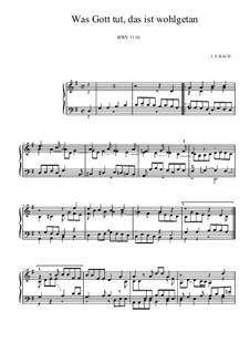 Neumeister Chorales: Was Gott tut, das ist wohlgetan, BWV 1116 by Johann Sebastian Bach
