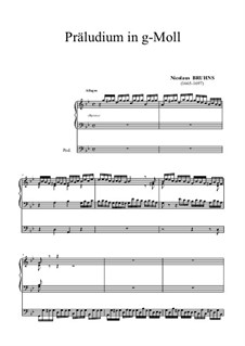 Prelude in G Minor: Prelude in G Minor by Nicolaus Bruhns