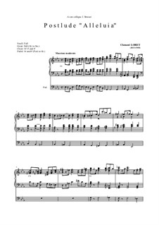 Postlude 'Alleluia': For organ (high quality sheet music) by Clément Loret