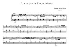 Grave per la benedizionef: Grave per la benedizionef by Giovanni Battista Martini