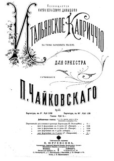 Italian Capriccio, TH 47 Op.45: For piano by Pyotr Tchaikovsky