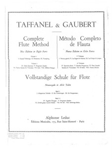 Complete Flute Method: Part I by Paul Taffanel, Philippe Gaubert