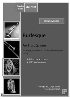 Burlesque: For brass quintet by Diego Minoia
