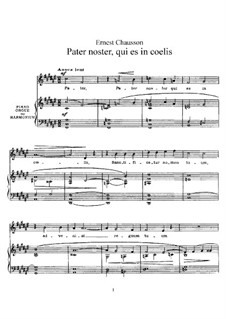 Pater noster, qui es in coelis, Op.16: Piano-vocal score by Ernest Chausson