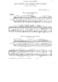 Les vêpres de commun des saints, Op.31: Les vêpres de commun des saints by Ernest Chausson
