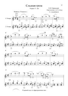 No.21 Sweet Dream: Arrangement for two guitars by Pyotr Tchaikovsky