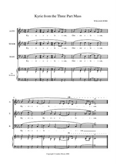 Mass for Three Voices: Kyrie by William Byrd