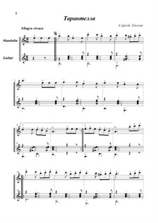 Tarantella: For mandolin and guitar by Sergej Kolgan