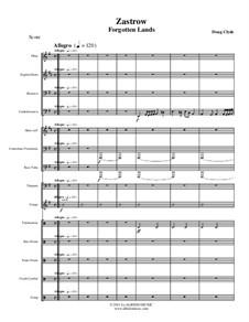 Forgotten Lands: Zastrow (Woodwind, Brass, Percussion), AMSM56 by Doug Clyde