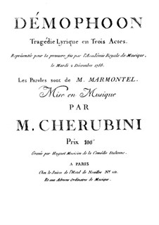 Démophoon: Démophoon by Luigi Cherubini