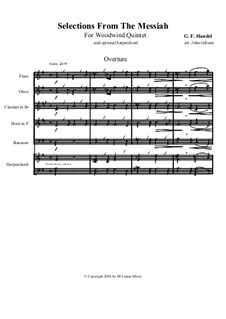 Fragments: Selections for woodwind quintet by Georg Friedrich Händel