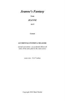 Jeanne: Jeanne's Fantasy – cornet part by Mark Warhol