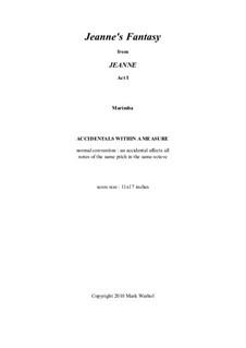 Jeanne: Jeanne's Fantasy – marimba part by Mark Warhol