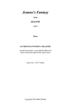 Jeanne: Jeanne's Fantasy – piano part by Mark Warhol