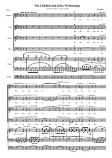 A German Requiem, Op.45: Movement IV, various lower transpositions by Johannes Brahms